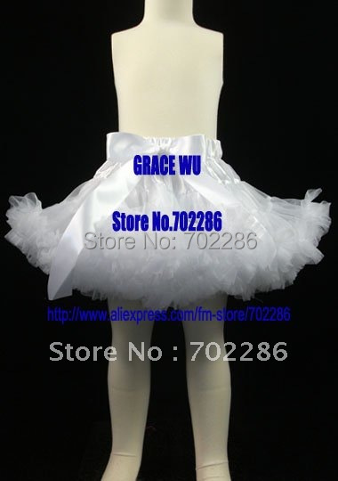 Wholesale xmas skirts solid white girls pettiskirts christmas gift baptism dress<br><br>Aliexpress