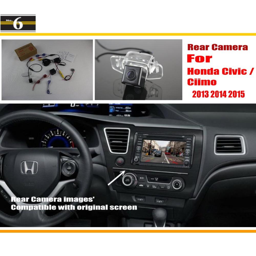For Honda Civic / Ciimo 9th Generation 2011~2015 Original Screen Compatible / Car Rear View Camera / Back Up Reverse Camera Sets(China (Mainland))