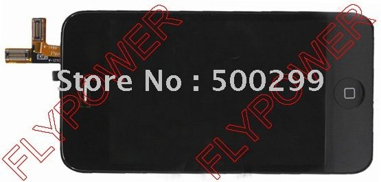 For iphone 3GS lcd screen with touch screen digitizer assembly HQ by free DHL, UPS or EMS; 10pcs/lot(China (Mainland))