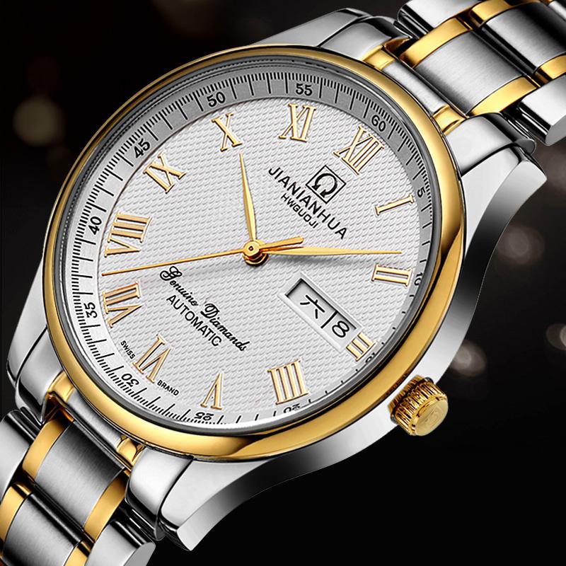 Фотография Luxury Carnival Waterproof  watch men stainless steel Sapphire Automatic machine wristwatch relogio masculino