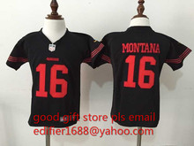 100% stitched baby San Francisco 49ers children 16 Joe Montana 42 Ronnie Lott 80 Jerry Rice 82 Torrey Smith 81 Anquan Boldin()