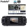 Dual Lens Car Camera Two Lens Vehicle DVR Dash Cam Loop Recorder GPS Tracker Tracking G