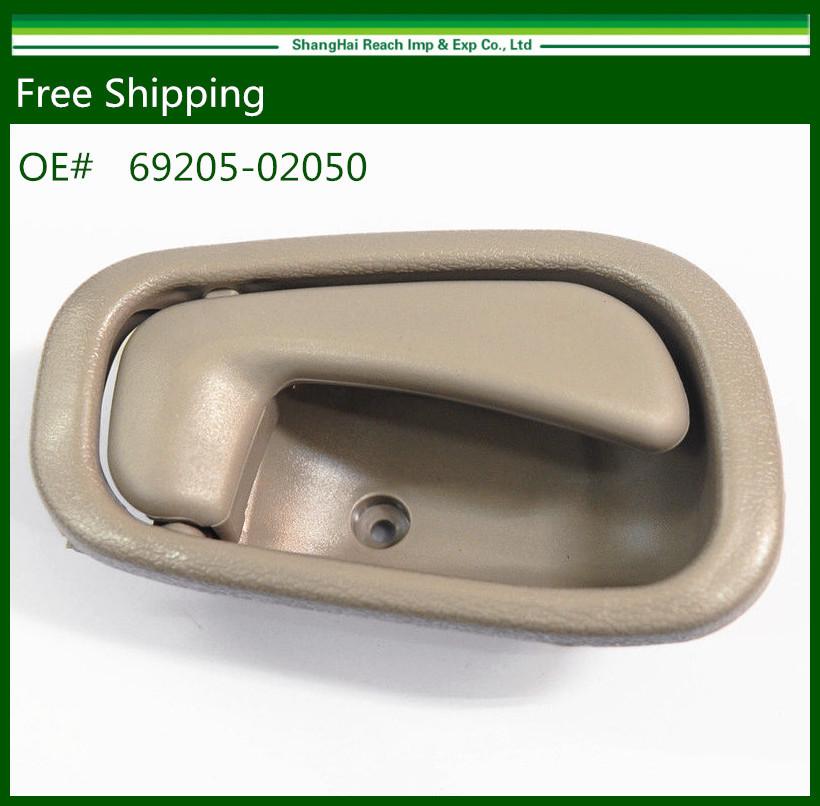 Drop Shipping New Interior Door Handle for Toyota Corolla/ Chevrolet PrizmBeige/TAN Right 69205-02050 69205-02050B1(China (Mainland))