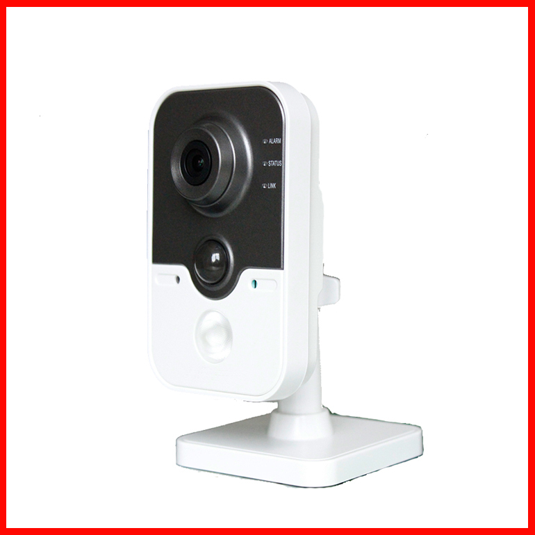 1.3MP IR Cube Network Camera DS-2CD2412F-IW,WIFI,Wireless,PIR,Built-in microphone and speaker,POE,SD Card IP Camera(China (Mainland))