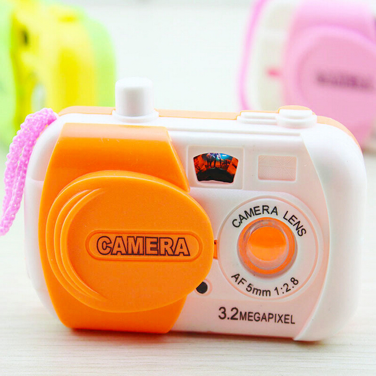 Toy cameras digital infantil mini plastic appareil photo colourful and emulational for children ids birthday gift free shipping(China (Mainland))
