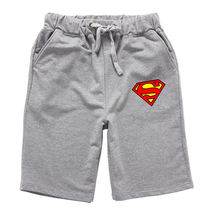 High Quality Men Summer Cotton Shorts Superman Logo Beach Shorts Board Basketbal Sports(China (Mainland))