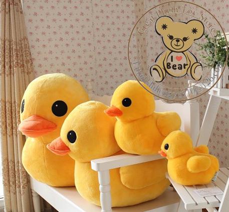 Free Shipping High Quality 20cm Hongkong Big Yellow Duck Soft Plush Stuffed Toy Duck For Kids or Girl Gift 20cm/30cm/50cm/70cm(China (Mainland))