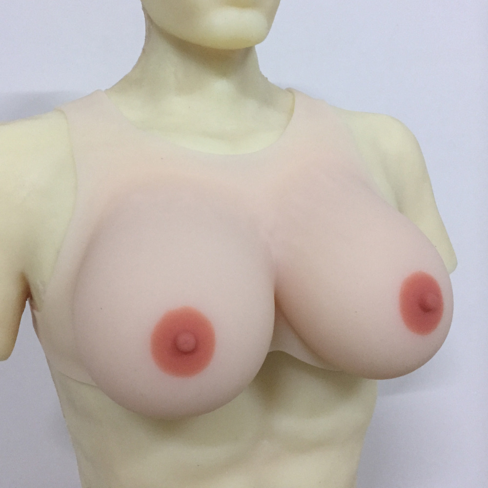Silicone breast form transvestism male womens shoulder strap fake breast forms DD Cup<br><br>Aliexpress