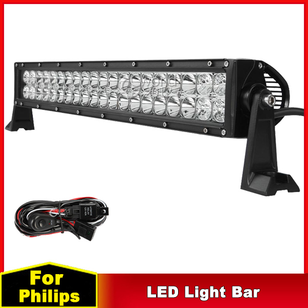 22 inch 120W for Philips LED Work Light Bar 12V Spot Flood Combo Beam 4x4 Off Road Truck ATV 4WD Trailer Car AUX Driving Light(China (Mainland))