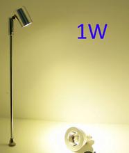 Высота 150 / 200 / 250 / 300 / 350 / 400 мм 1 Вт Epistar из светодиодов ювелирные изделия лампы прожектора на золото дисплей регулируется на любой угол