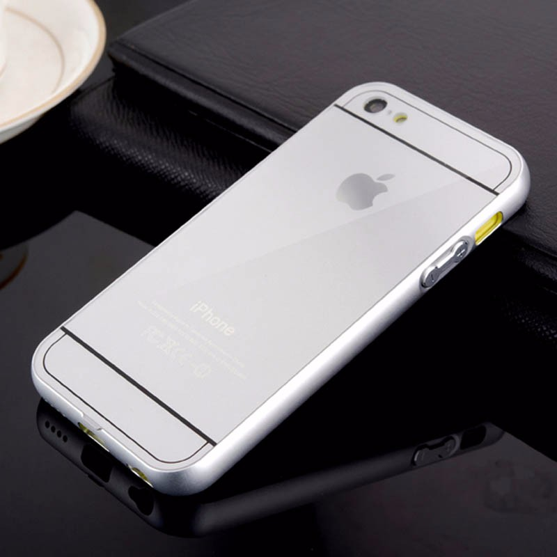 Luxury Aluminum PC Case For iPhone 5c Metal Frame Acrylic Colorful Gold Aluminium Shockproof Fundas Coque For iPhone 5 C