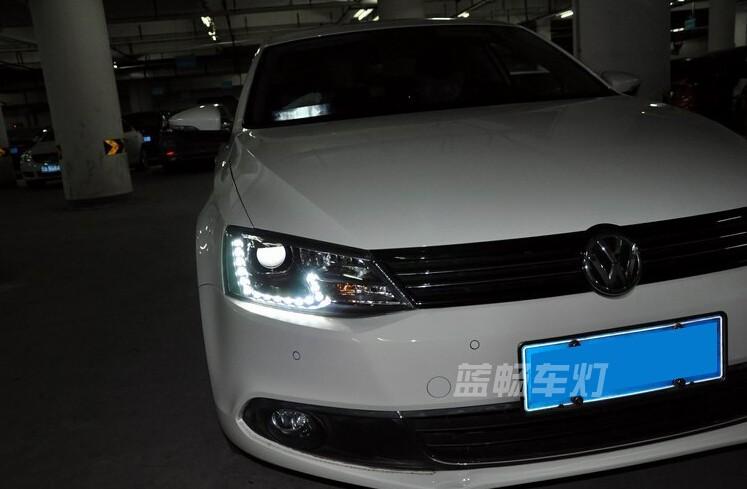 Auto Clud 2011-2014 For vw jetta mk6 headlights car styling For vw jetta head lamps parking LED DRL+ H7 HID kit +Q5 bi xenon len