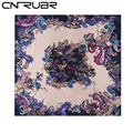 CNRUBR Ladies Imitated Silk Scarf 90 90cm Printed Bandana Satin Large Female Shawl Handkerchief For Women