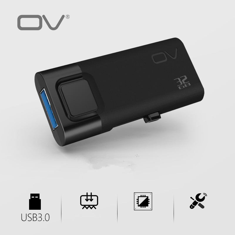 OV USB 3.0 USB Flash Drives 32GB 64GB Pen Drive Plastic Sleek Memory Memorias Disks Real Capacity(China (Mainland))