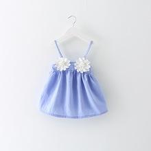 2016 summer baby girl dress cotton wedding clothes princess birthday bow infantis clothing vestido YD0078(China (Mainland))
