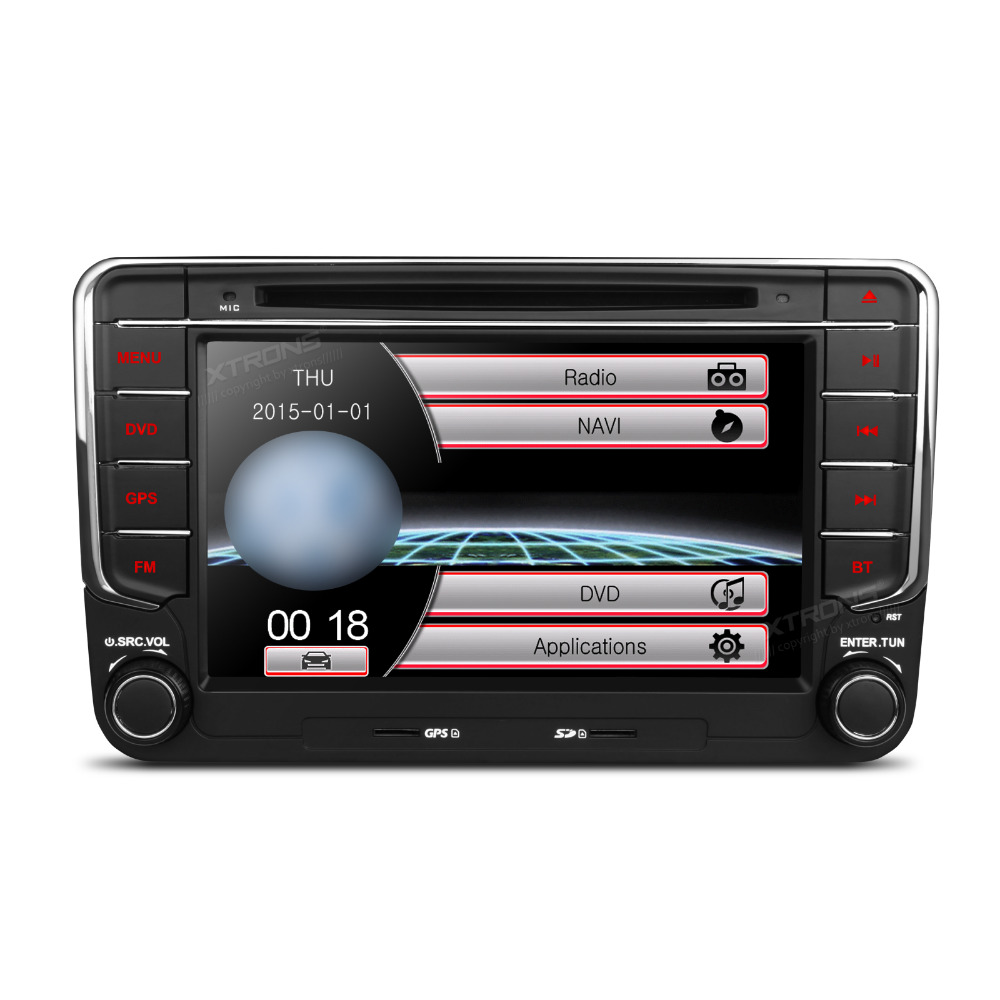 Xtrons 7 car dvd player 2 din gps navigation audio stereo for Mirror 2008 dual audio
