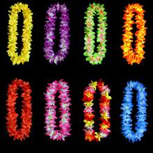Hot Selling Festival Wedding Party Decorations Supplies Hawaiian Luau Petal Leis Party Beach Tropical Flower Necklace 1PC(China (Mainland))