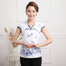 Summer New Chinese Style Women Cotton Tang Suit Tops Blouse Vintage Traditional Chinese Shirt M L XL XXL XXXL 4XL 5XL T13