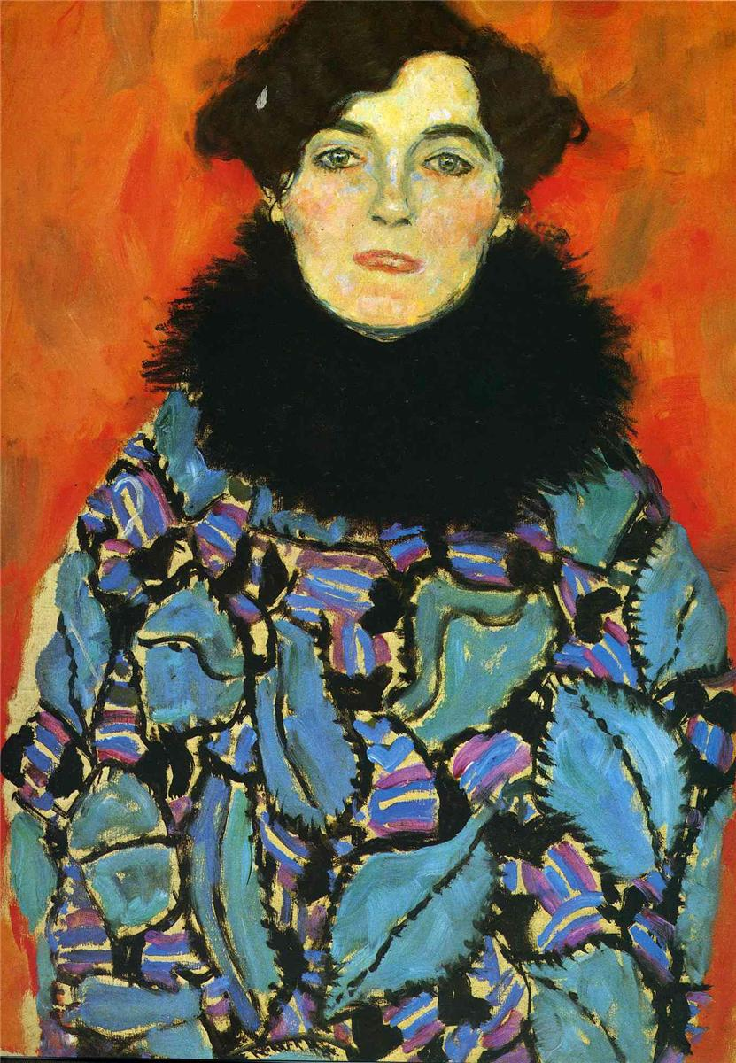 Handmade oil painting reproduction Portrait of Johanna Staude by Gustav Klimt(China (Mainland))