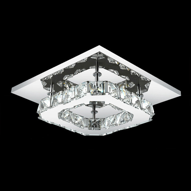 Modern 8w crystal led hallway ceiling light stair lighting for Moderne led deckenlampen
