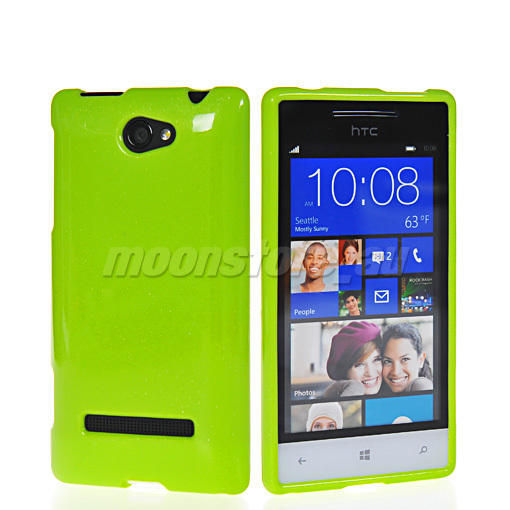 GLITTER SOFT GEL TPU SILICONE SKIN CASE COVER FOR HTC WINDOWS PHONE 8S - huang cong's store