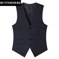 Grey Black Suit Vest Mens Formal Suit Jacket Sleeveless Wedding Waistcoat Cotton Slim Fit Brand New
