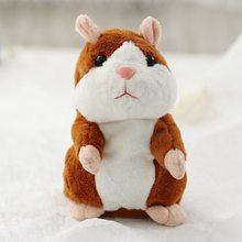 2019 Promoção Dropshipping 15 centímetros Adorável Falar Hamster Falar Falar Sound Record Hamster Repita Animal De Pelúcia Recheado Kawaii Brinquedos(China)