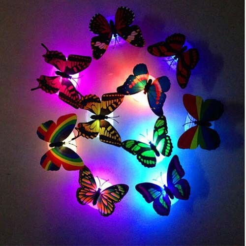 Colorful Butterfly kids baby night light abajur infantil wedding room party decoration for children nightlight novelty products(China (Mainland))