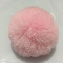 8 cm Pompom Pompom de Pele De Coelho Artificial De Pele Chaveiro Bola Fofo Mulheres Da Cadeia Chave Do Carro Saco Chave Anel Titular Chaveiro llaveros(China)