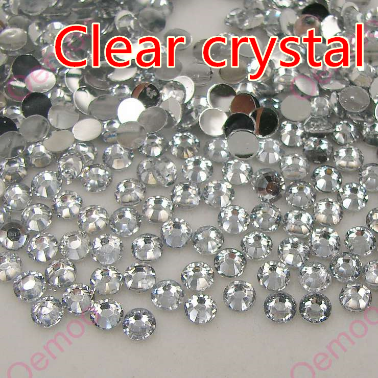 2015 Fashion Clear Crystal Flatback Resin Rhinestones 2mm,3mm,4mm,5mm,6.5mm,7mm,8.5mm 14 Facets DIY accessory for bags shoes etc(China (Mainland))