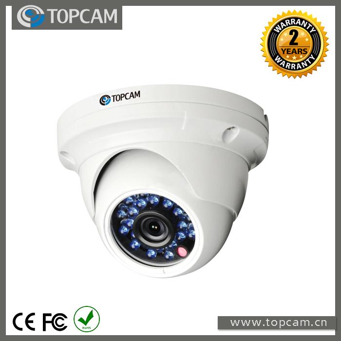 1.0MP 720P IP Indoor Dome Camera With 3.6mm Lens IR Distance 20 Meters Metal Housing Vandalproof IP 65(China (Mainland))