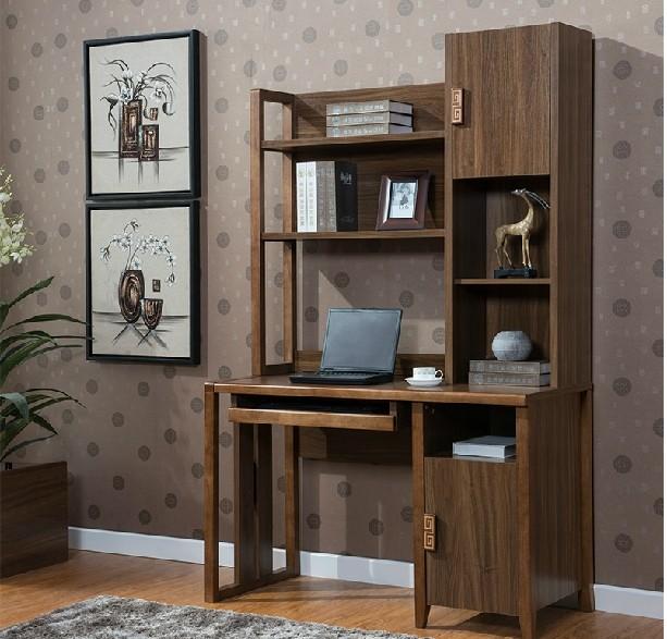Chinees houten computer bureau boekenkast eiken boekenkast combinatie van tafels voor kinderen - Houten bureau voor kinderen ...