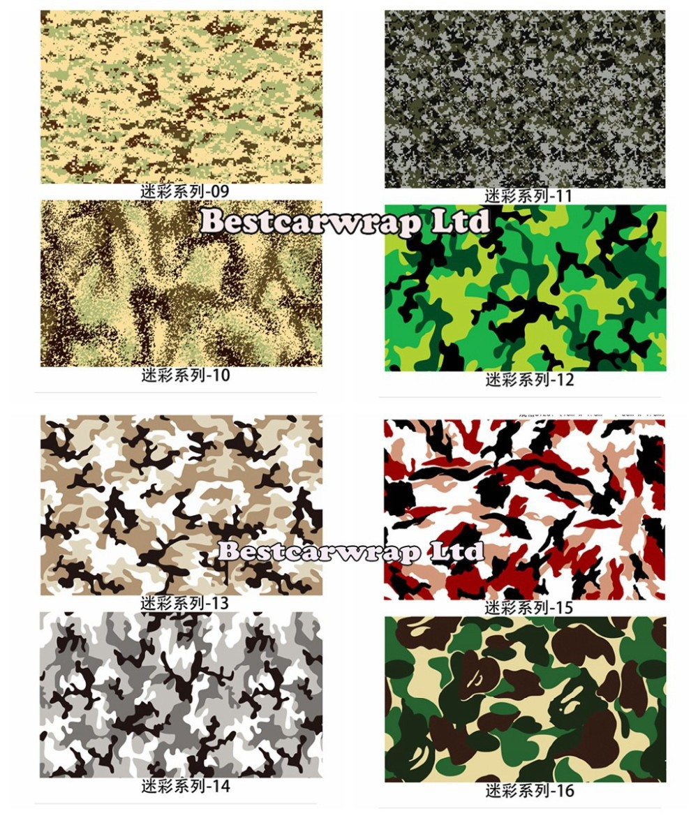 Camo vinyl wrap black, white green purple camouflage wraps (1)