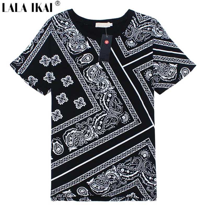 Latest Plus Size 5XL T Shirt Men Swag La Rhude Bandana Print HARAJUKU Ktz Flowers Cashew Worldshine Hip Hop Mens Tshirt SMB0185Одежда и ак�е��уары<br><br><br>Aliexpress