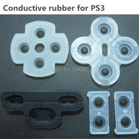 Free shipping High quality Transparent Conduction rubber replacement for PS3 Controller 50sets/lot