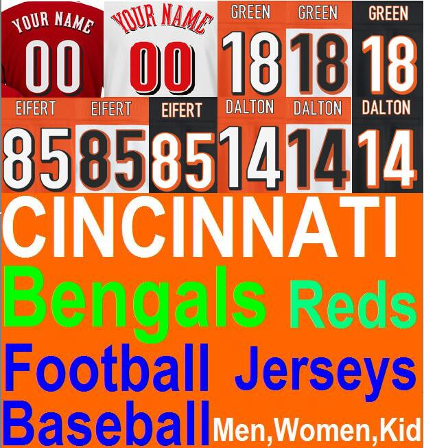 New American Football Baseball AJ Green Jersey Women Tyler Eifert Jersey Cheap Authentic Sports Jerseys China Bengals Jersey Kid(China (Mainland))
