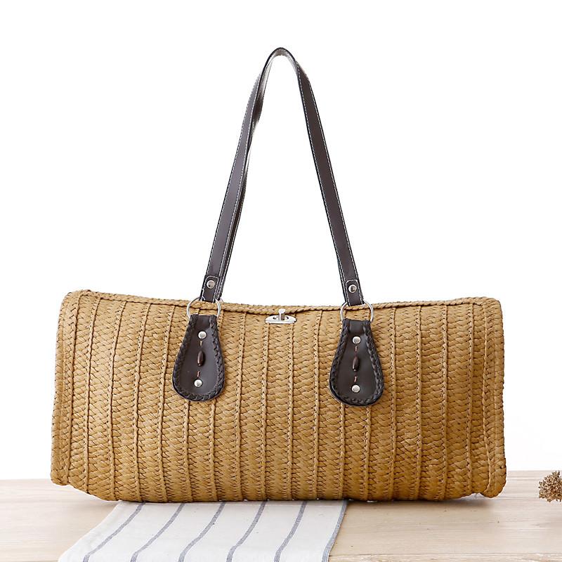 Bohemia women's straw braid handbag bohemia innumeracy straw beach shoulder bags casual tote solid color