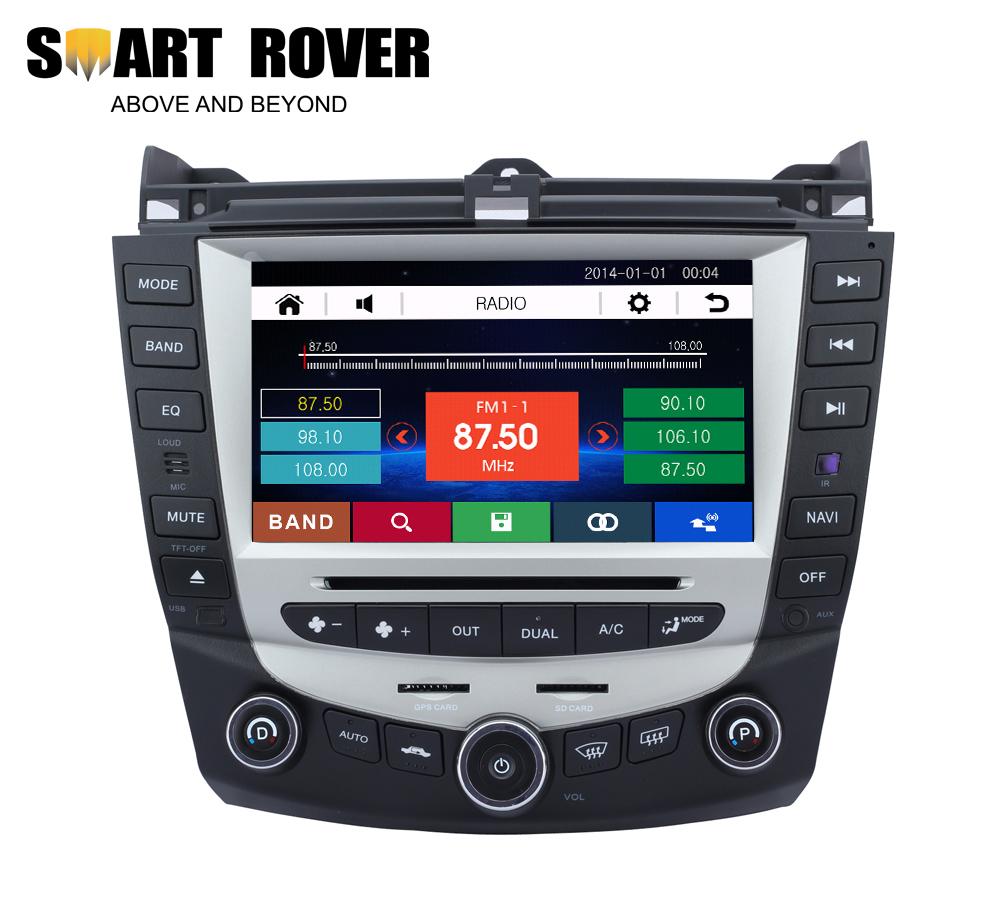 Car Stereo Sat Navi Headunit Accord 7 2003 2004 2005 2006 2007 DVD GPS Radio Bluetooth iPod Steering Wheel Control - Smart-Rover Navigation store