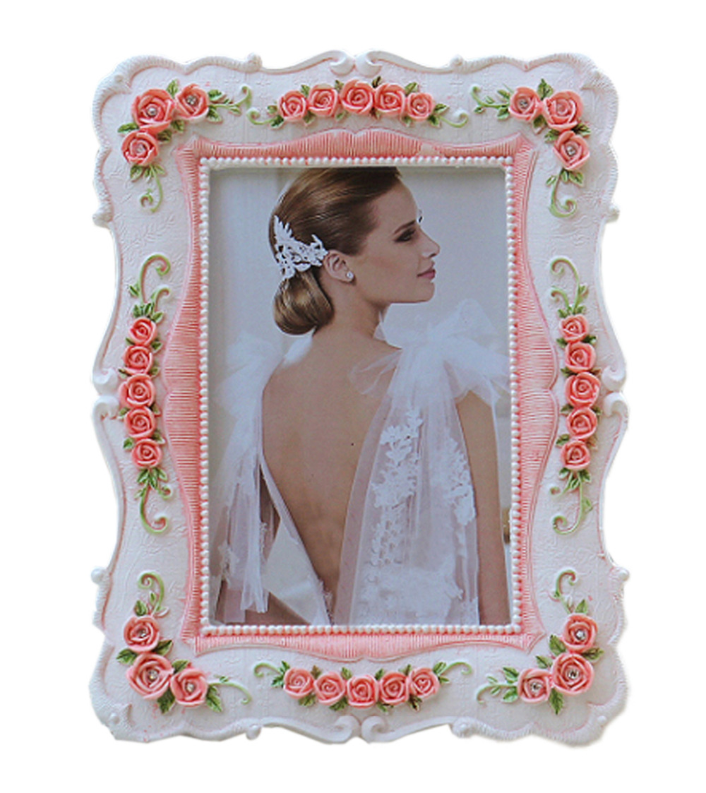 Europe Style Photo Frame <font><b>Home</b></font> <font><b>Decor</b></font> Pictures Frames White Pink 4 Sizes <font><b>Elegant</b></font> Decorative Frame Free Shipping