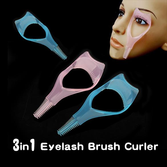 Hot venda multifuncional 3 em 1 Mascara cílios escova Curler Lash Comb novidade Multifunction cosméticos NVIE
