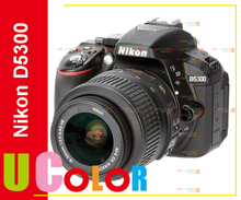 Original New Nikon D5300 Digital SLR 24.2MP Black Camera with Nikkor 18-55mm VR II  Lens Kit (Mulit Language)(Hong Kong)