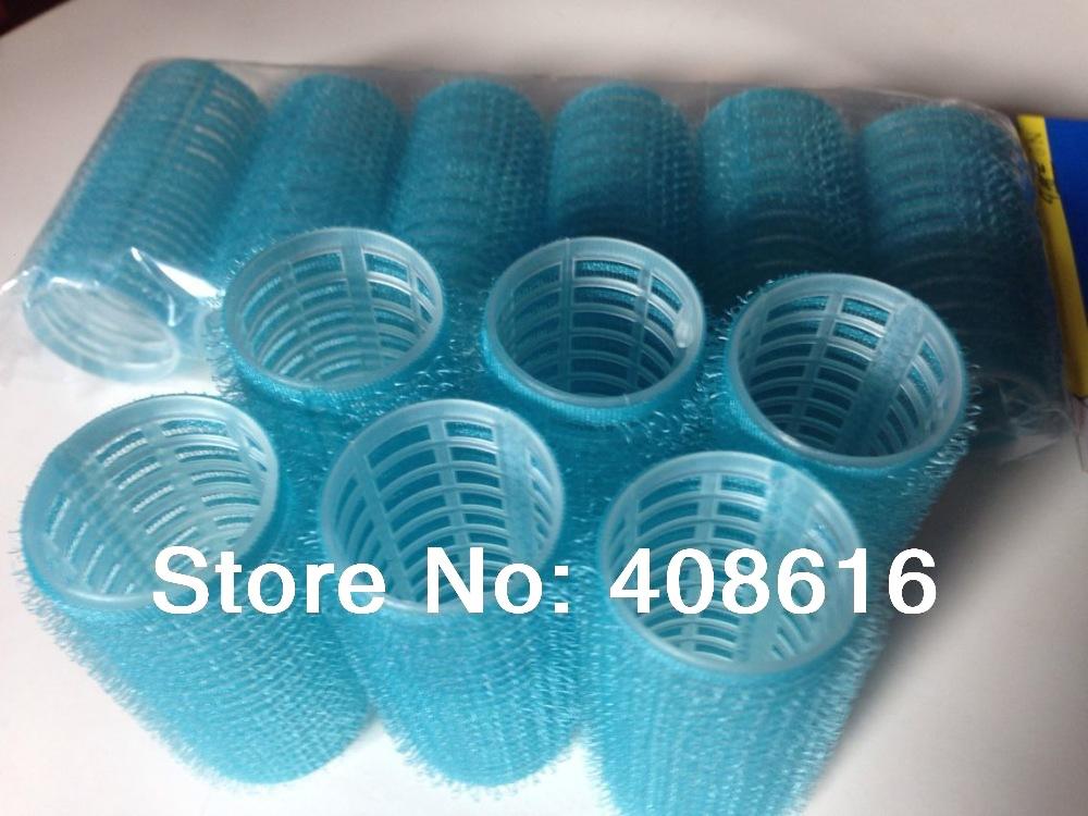 Hair Styling Roller clip curler bendy tool Velcro Cling fashion bun maker,Sky Blue L63mm liner Dia.25mm 6pcs/bag,6bags/lot(China (Mainland))
