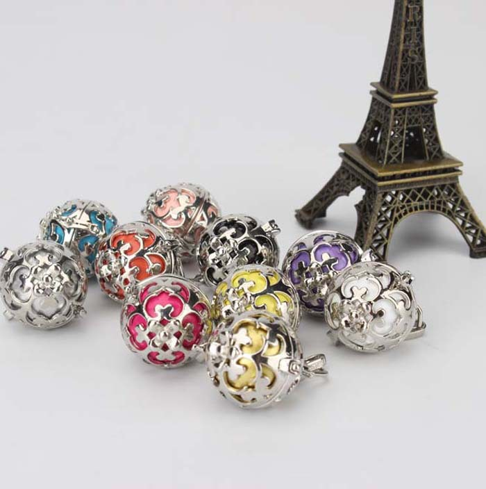 Hot Selling Pregnancy Angel Whisper Harmony Chime Ball Cage Pendant With Zircon Stone(China (Mainland))