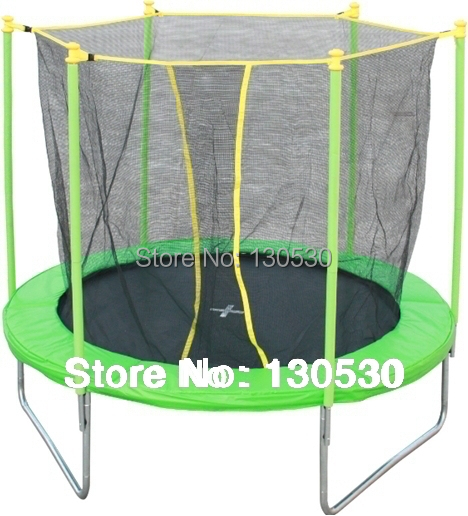 6feet trampoline kids trampoline jumping bed in 6 feet trampoline with safety enclosure inside. Black Bedroom Furniture Sets. Home Design Ideas