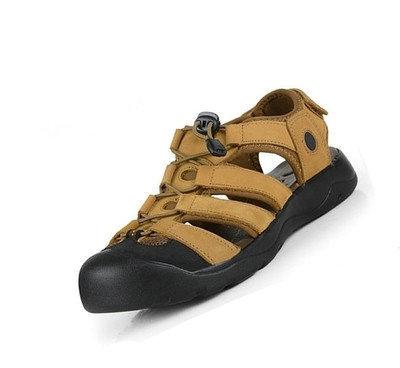 2015 Brand new summer style Men's flip flops Sandals men Fashion Genuine Leather sport BEACH SANDAL 3 styles DD4 - Beijing International Trade Co.,Ltd store