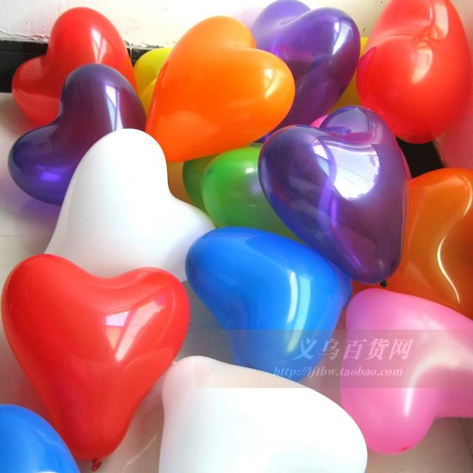 Wholesale 30p 12inch Heart Shape Balloons Latex Helium colorful Birthday Wedding Party Christmas Valentine's day Decoration toy(China (Mainland))