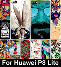 Cute Cartoon Painted Mobile Phone Case For Huawei p8 Lite Colorful Protective Case Capa Funda For
