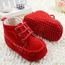Newest Infant Baby Girl Crib Shoes Princess Lace UP Soft Sole Sneakers Toddler Girls Short Boots First Walkers(China (Mainland))
