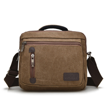 Famous Brand Canvas Shoulder Bag Men Vintage Business Men Handbag Messenger Bag for Ipad Book Shoulder Bag
