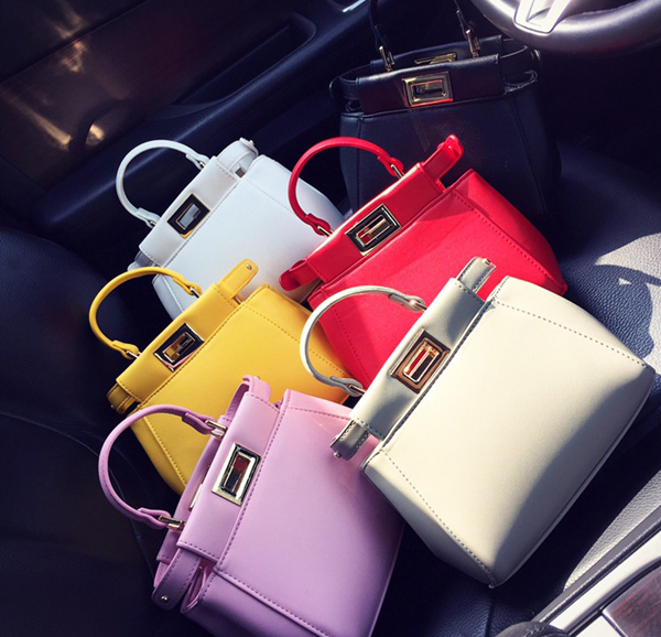 2015 womens spring handbag clip mini bag fashion small ladies candy color tote bag kitten bag<br><br>Aliexpress